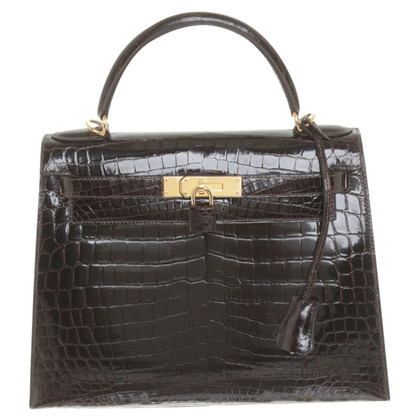"Hermès ""Kelly Bag 28"" crocodile leather"