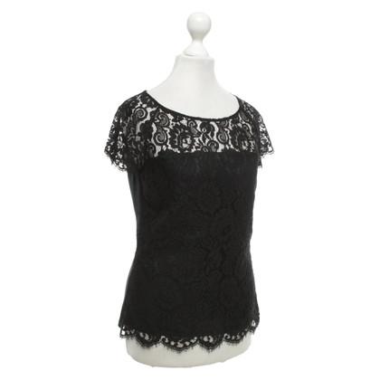 L.K. Bennett Lace top in black