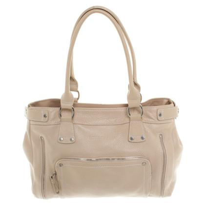 Longchamp Lederhandtasche in Beige