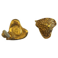 Christian Lacroix Gold plated heart ear clips