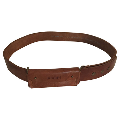 JOOP! Leather belt with bag