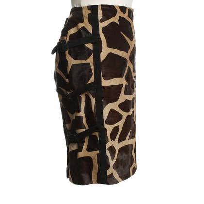 Valentino skirt with fur trim