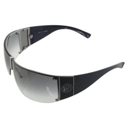 Giorgio Armani Monoshade-Sonnenbrille in Blau