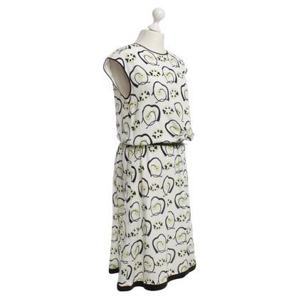 Max Mara zijden jurk met drukpatroon