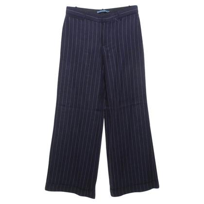 Ralph Lauren Krijtstreep broek in blauw
