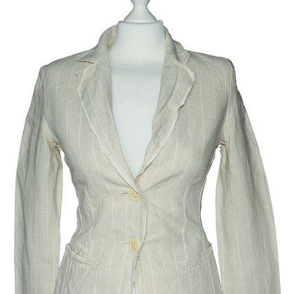 Iris von Arnim Striped Two Button LINEN Blazer