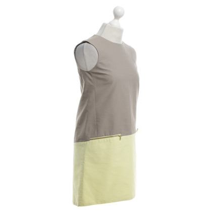 Victoria by Victoria Beckham Boxy dress in light gray / yellow