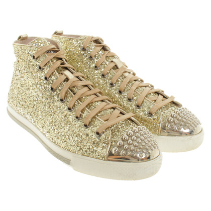 Miu Miu Sneakers with gemstone trim