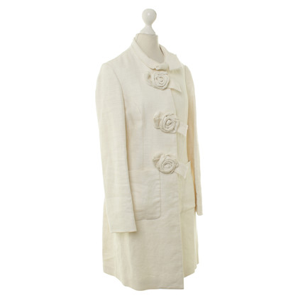 Phillip Lim Linen coat with roses applications