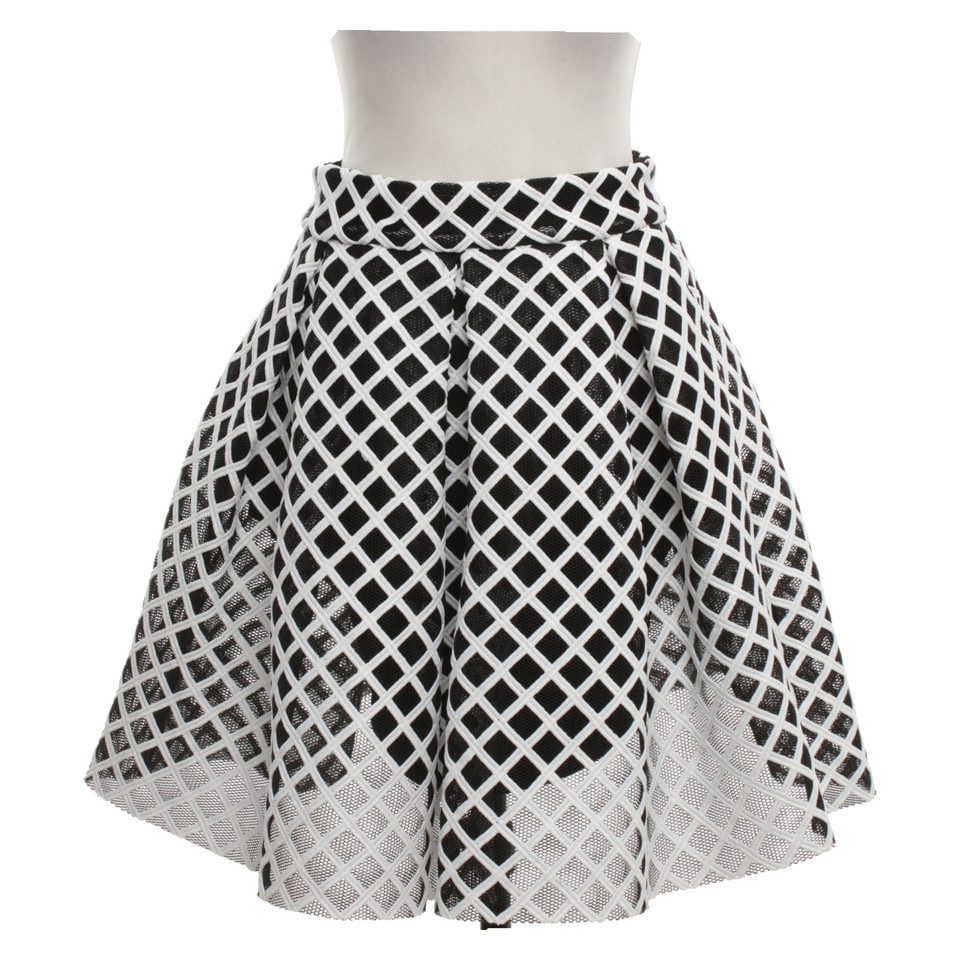 Maje Issued skirt in black and white