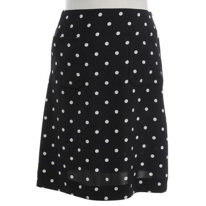 Hobbs skirt with dot pattern