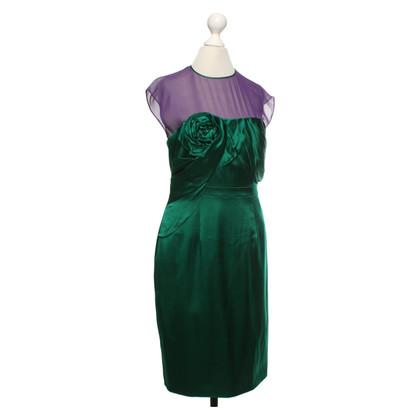 Karen Millen Abito di seta in verde / viola