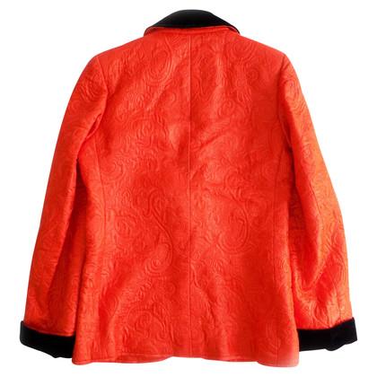 Yves Saint Laurent Jacquard-Blazer mit Samtdetails