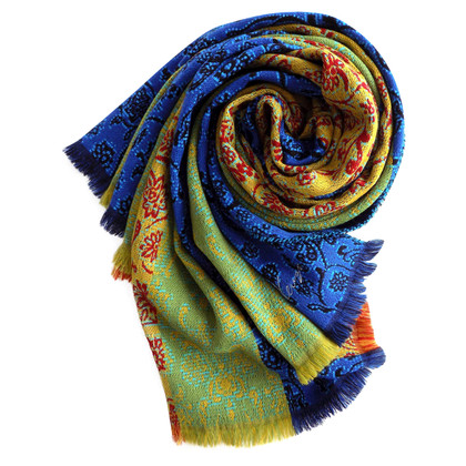Kenzo Wool/viscose colorful scarf