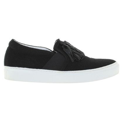 Lanvin Black Slippers