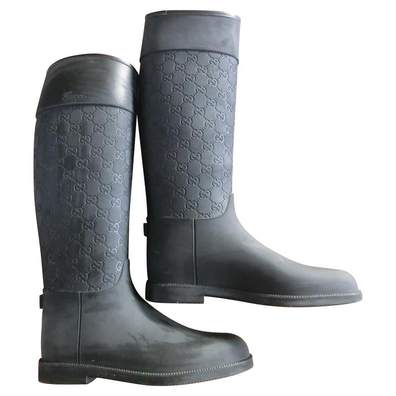 Rubberen Schoudertassen : Gucci rubberen laarzen koop tweedehands