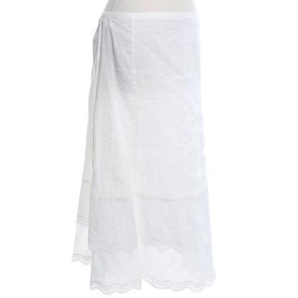 Rena Lange Leinenrock in Weiß