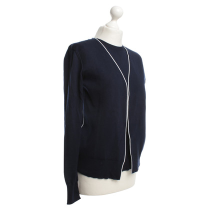 Céline Knitting Top in blu