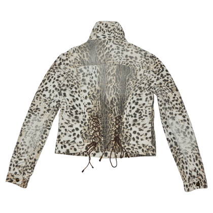 Just Cavalli Giacca in cotone con stampa animalier