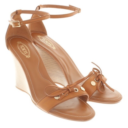 Tod's Open wedges in brown