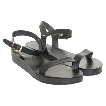 Ancient Greek Sandals Sandales en noir