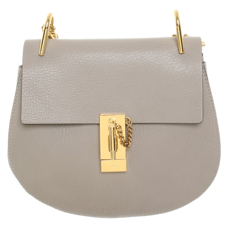 Chloé Handtasche aus Leder in Taupe Second Hand Chloé