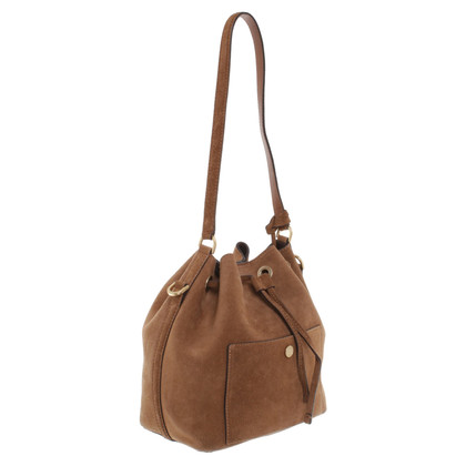 "Michael Kors ""Greenwich MD bucket bag suede dark caramel"""