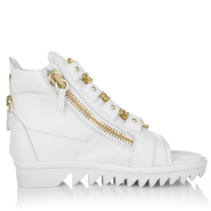 Giuseppe Zanotti Peeptoe sneakers in white
