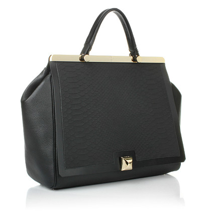 Furla Leather handbag with gold details