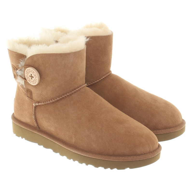 ugg boots bailey button chestnut 39