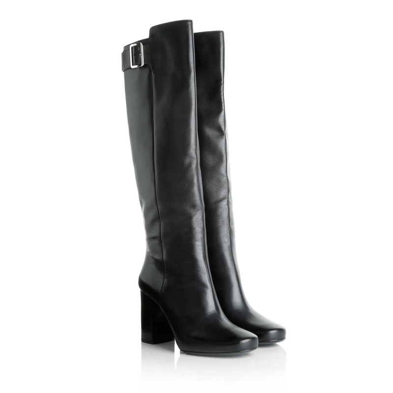 Prada Black boots with stiletto heel