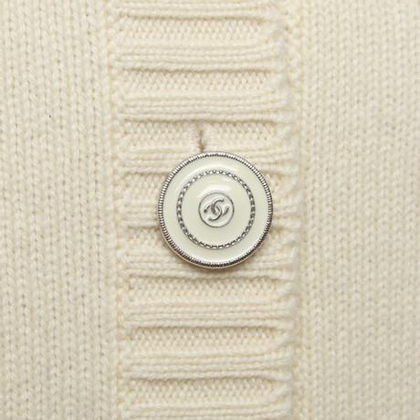 Rabatt Hohe Qualität Chanel Strickjacke aus Kaschmir Creme Verkauf Billigsten Rabatt Geringe Versandgebühr Billig Bester Verkauf v2nFq2REpM