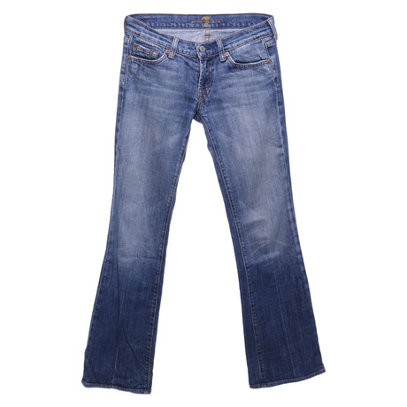 7 For All Mankind Bootcut-Jeans aus Baumwolle Blau
