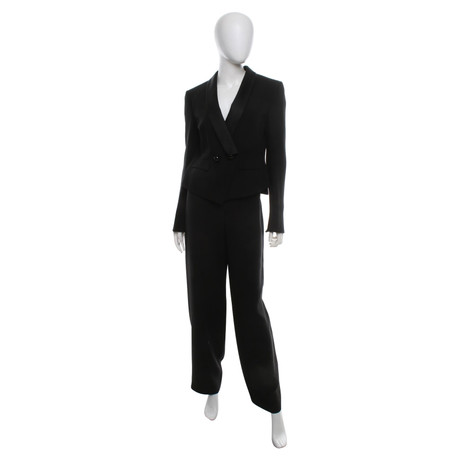 Armani Smoking-Anzug mit Satin-Besatz Schwarz