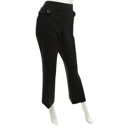 Prada Pantaloni in misto lana nero