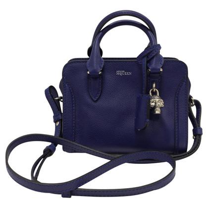 Alexander McQueen Blu mini padlock bag