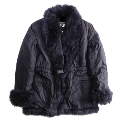 Ferre Puffer with faux fur collar