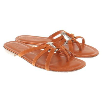 Tod's Orange sandals