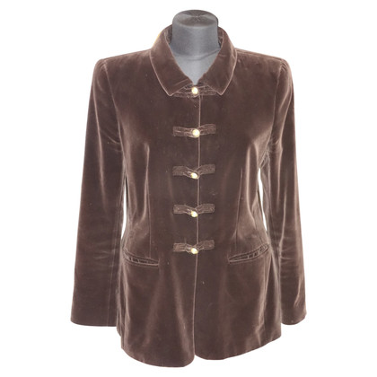 Rena Lange Velvet blazer in dark brown