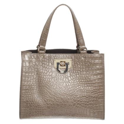 DKNY Handtasche mit Reptil-Prägung