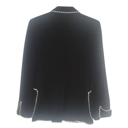 Moschino Cheap and Chic Black jacket with piping