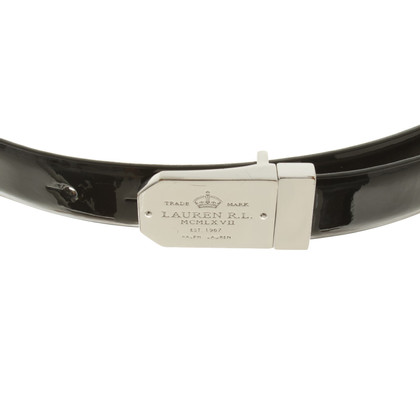 Ralph Lauren reversible belt in Black / Silver