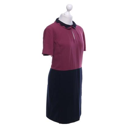 Hobbs Dress in Bordeaux / dark blue