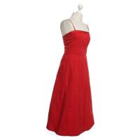 Jil Sander Bustier Dress in Red