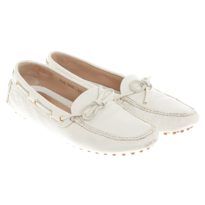 Car Shoe Loafer in bianco