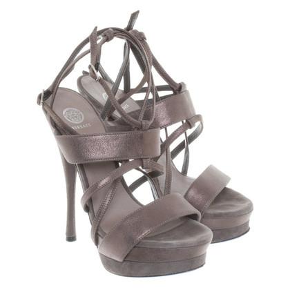 Versace High Heels in Grau