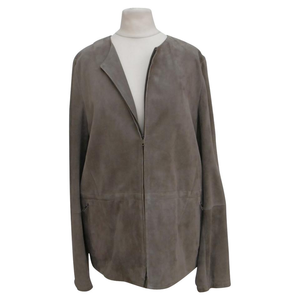 jil sander veste en daim acheter jil sander veste en daim second hand d 39 occasion pour 570 00. Black Bedroom Furniture Sets. Home Design Ideas