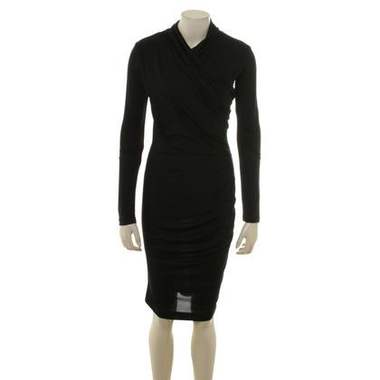 Guido Maria Kretschmer zijden jurk in zwart