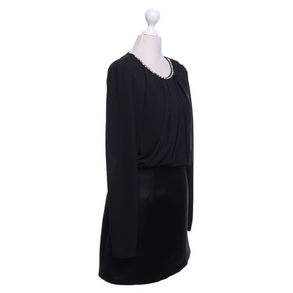 Elisabetta Franchi Black dress with gemstones