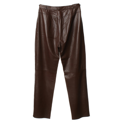 Escada Leather pants in Brown